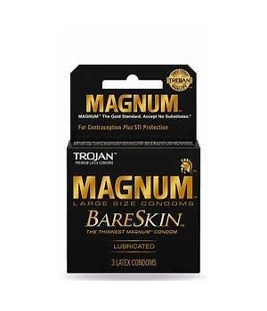 TROJAN MAGNUM BARESKIN 12/3PK EXP 04/2504/25