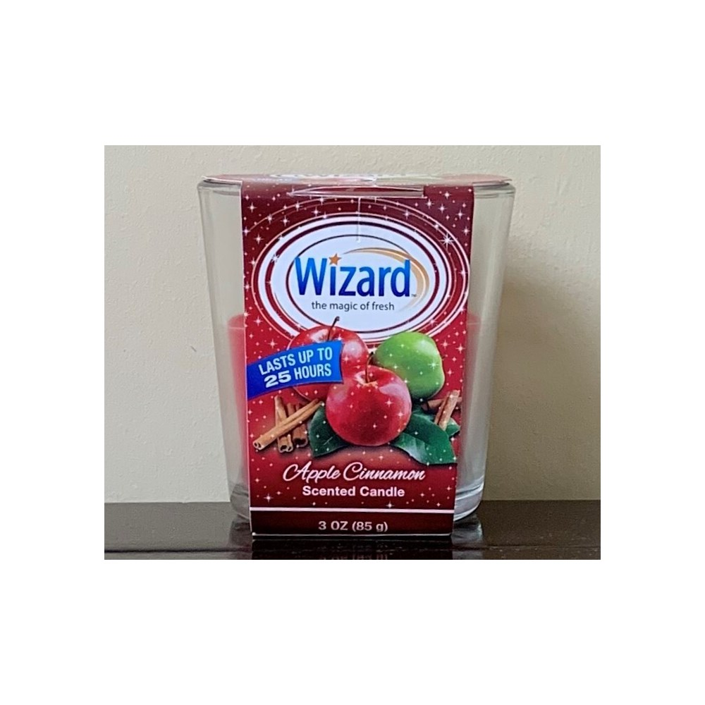 WIZARD SCENTED CANDLE APPLE CINNAMOND 12/3OZ