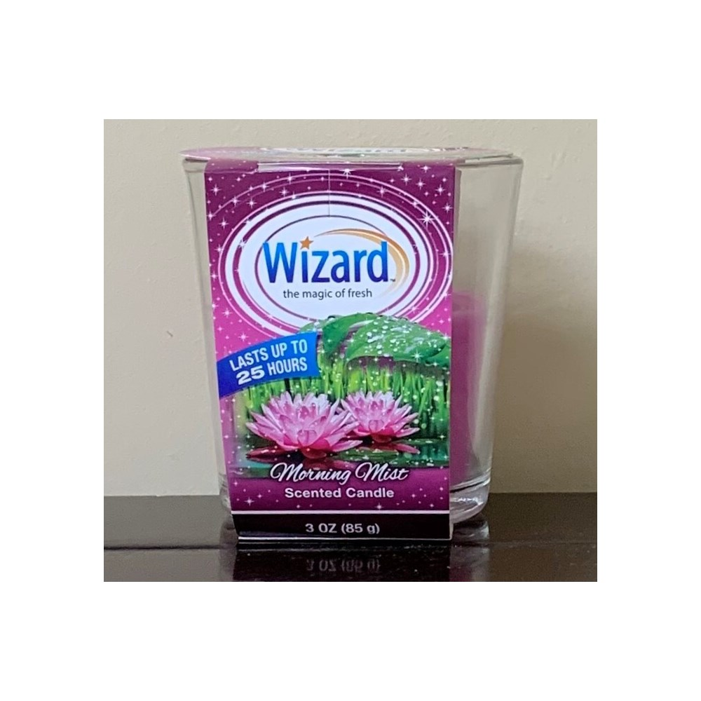 WIZARD SCENTED CANDLE MORNING MIST 12/3OZ