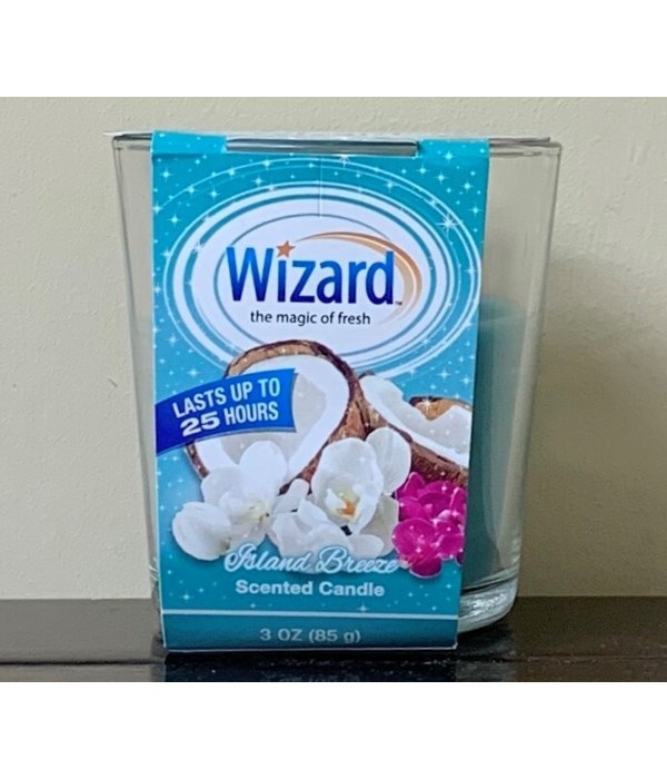 WIZARD SCENTED CANDLE ISLAND BREEZE 12/3OZ