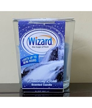 WIZARD SCENTED CANDLE WANDERING BROOK 12/3OZ