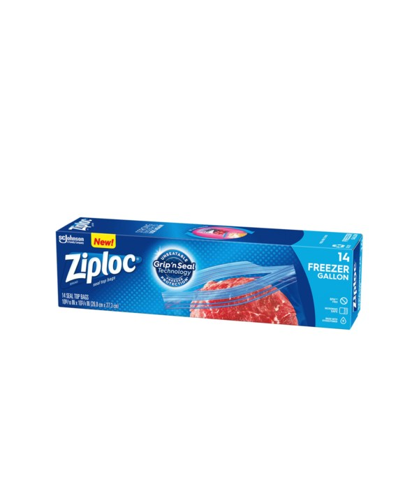 ZIPLOC FREEZER GALLON BAGS 12/14 CT