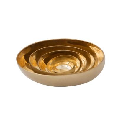Luca Bowl Set (1x XSm, 1x Sm, 1x Med) - Brass