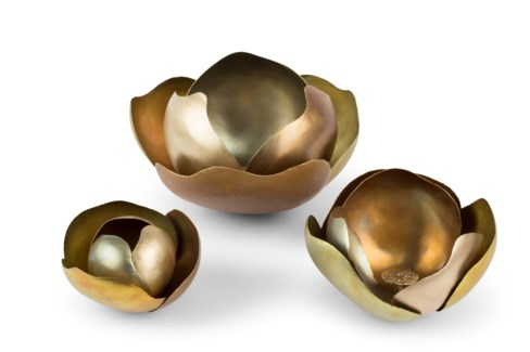 Camille (Medium) Set - Satin Brass, Copper