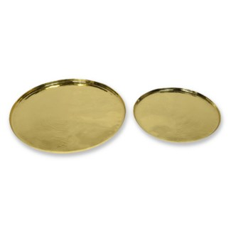 Santo Platter Set - Polished & Hand Textured Brass