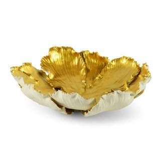 Kuri Bowl - White & Old Gold