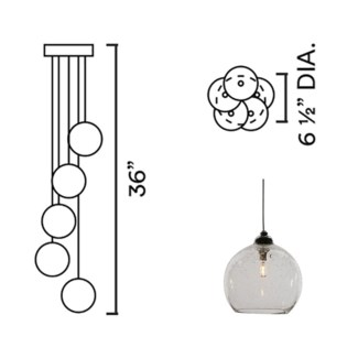 Systo Tramonto 05 Chandelier Round