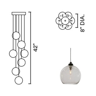 Systo Tramonto 07 Chandelier Round
