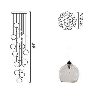 Systo Tramonto 16 Chandelier Round