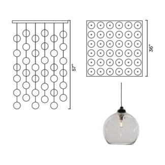 Systo Tramonto 36 Chandelier Square Large