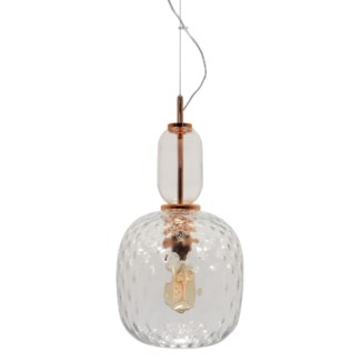 Hooray Harriet Pendant - Copper, Cristale Tuft Glass