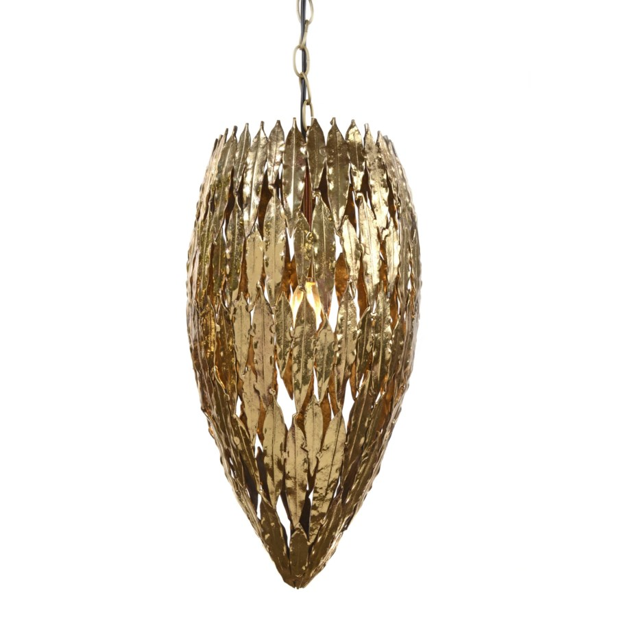 Abora Pendant (Tall) Round - Antique Brass
