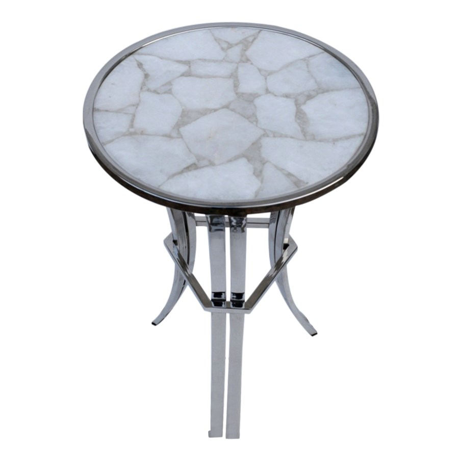 Billie Accent Table (Trio) - Polished Ivory Top