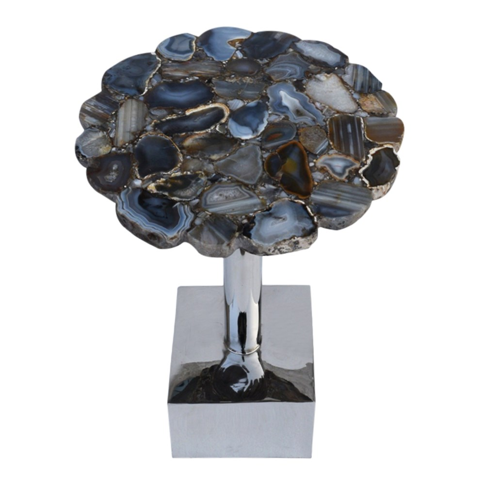 Billie Accent Table (Square) - Agate Top