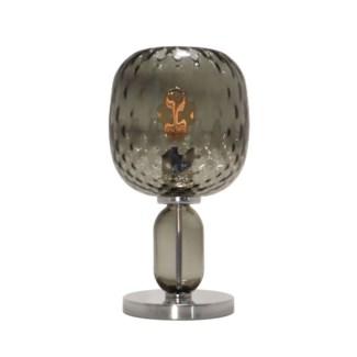 Hooray Harriet Table Lamp - Nickel, Smoke Green Tuft Glass
