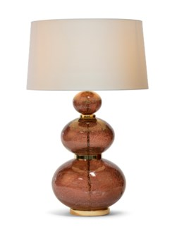 Maggie May Table Lamp - Brass, Marsala Lava Glass