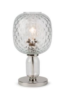 Hooray Harriet Table Lamp - Nickel, Cristale Tuft Glass