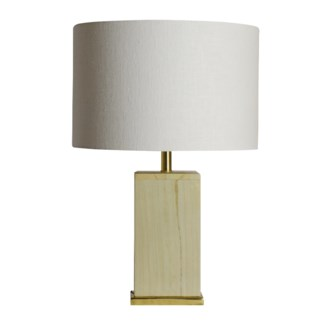 Cara Lamp - White Marble