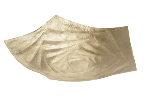 Baku Bowl - Hammered Satin Brass