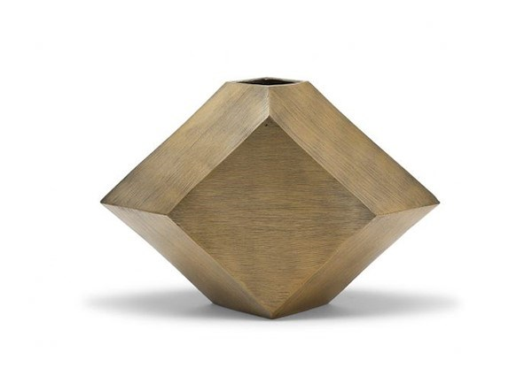 Hexx Vase (Sm) - Hand Finished Brass