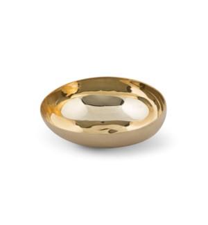Luca Bowl (Lg) - Matte Brass, Polished