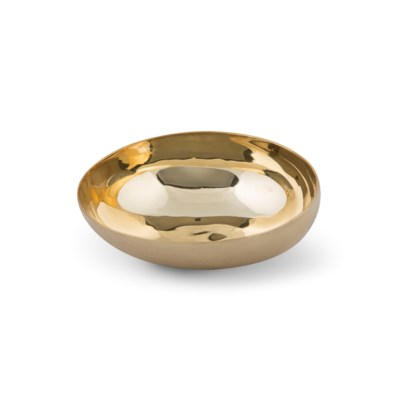 Luca Bowl (Lg) - Matte Brass, Polished