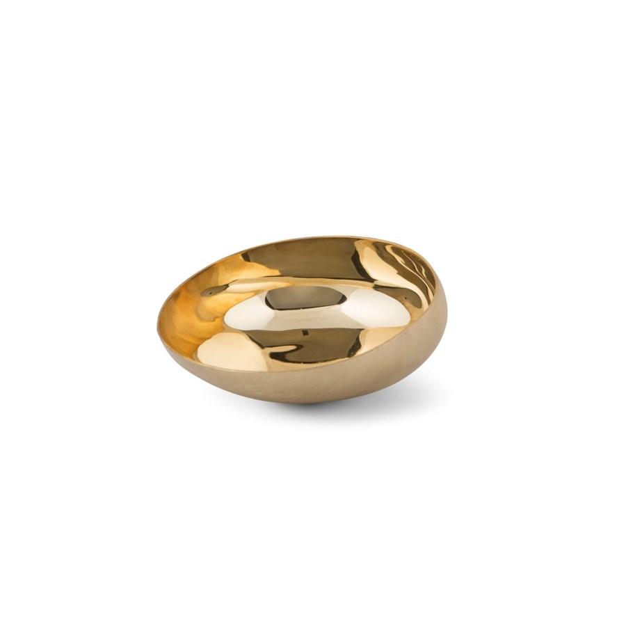 Luca Bowl (Med) - Matte Brass, Polished