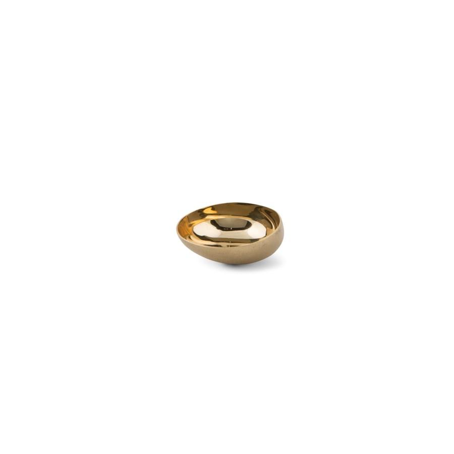 Luca Bowl (XSm) - Matte Brass, Polished