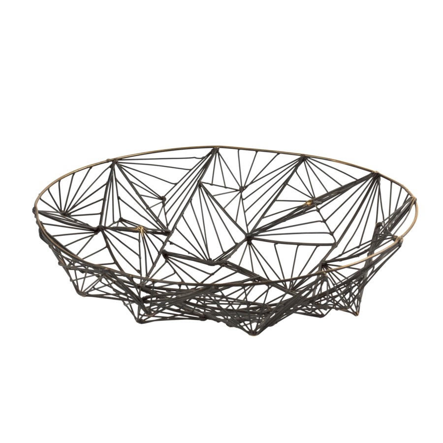 Momo Bowl (Lg) - Burnished Brass