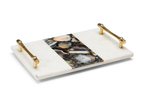 Vita Tray - Polished Marble, Agate