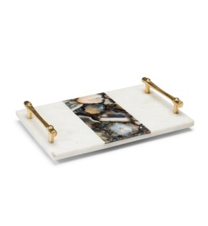 Vita Tray - Polished Marble, Agate