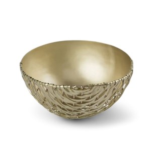 Suki Bowl (Sm) - Satin Brass