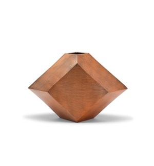 Hexx Vase (Sm) - Hand Finished Copper