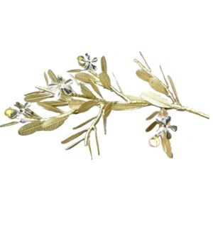 Asana Tabletop Decor (Lg) - Cast Brass, Natural