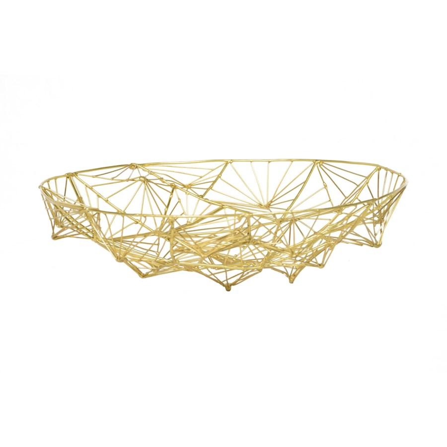 Momo Bowl (Lg) - Natural Brass