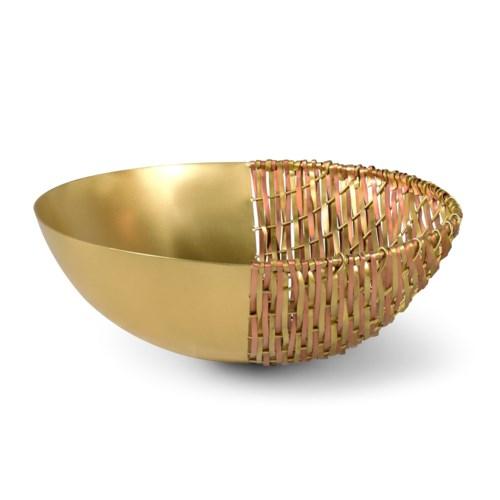 Suki Bowl (Lg) - Satin Brass