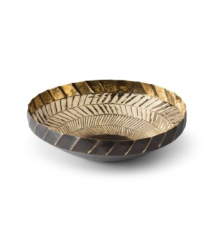 Emile Bowl - Polished Antique Brass