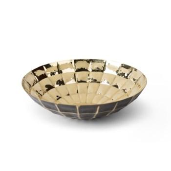 Louis Bowl - Polished Antique Brass