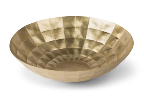 Louis Bowl - Polished Antique Brass