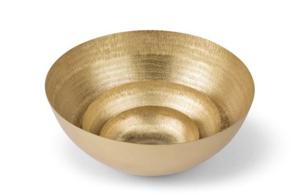 Clarice Bowl (Set) - Satin Brass