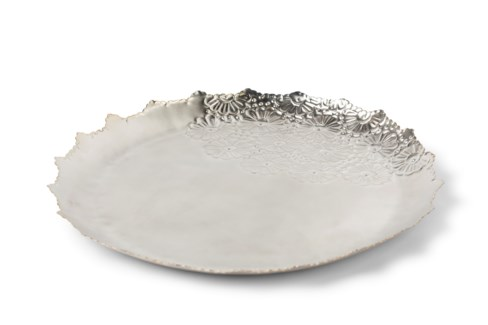 Daisy Chain Platter - Satin Nickel