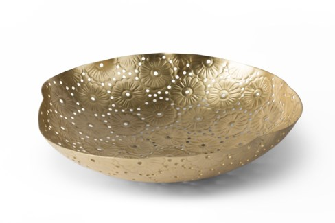 Daisy Chain Bowl - Satin Brass