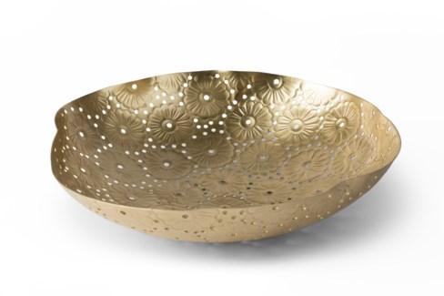 Daisy Chain Bowl - Satin Brass