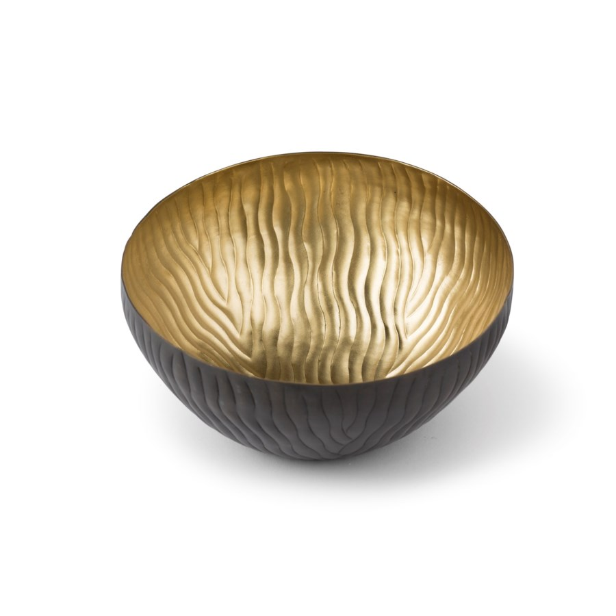 Mondo Bowl (Medium) - Antique Satin Brass