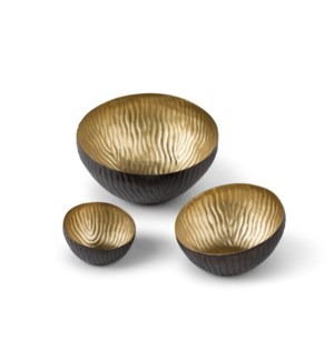 Mondo Bowl (Set) - Antique Satin Brass