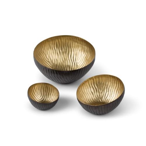 Mondo Bowl (Set) - Antique Satin Brass
