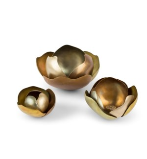 Camille (Medium) Set - Satin Brass, Copper