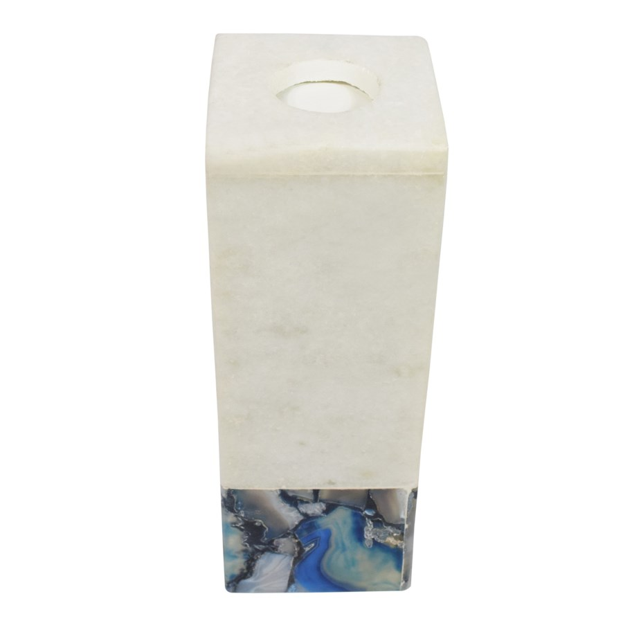 Adria Candle Holder Tall - Marble & Agate
