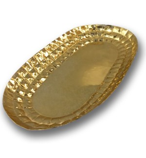 Louis Platter Oval - Polished Brass