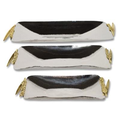 Nomi Tray Set - Polished Brass